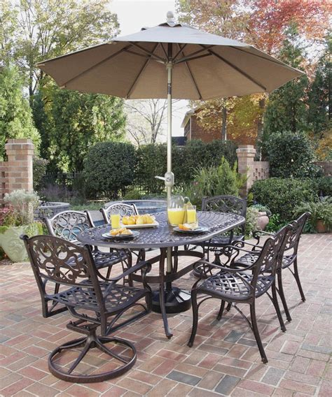 Patio Set With Umbrella Outdoor Table Chairs Umbrella Chairs Seating