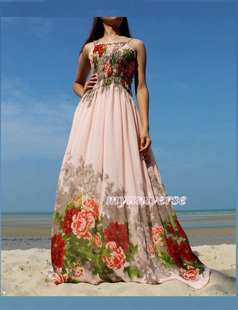 peach maxi dress prom wedding bridesmaid dress sundress