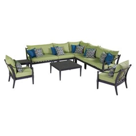 cast aluminum patio furniture brands shop rst brands 9 cast aluminum cushioned patio