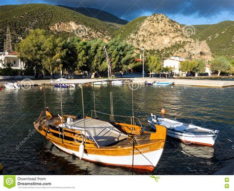 buy fishing boat in greece greek boats editorial image cartoondealer 75592522
