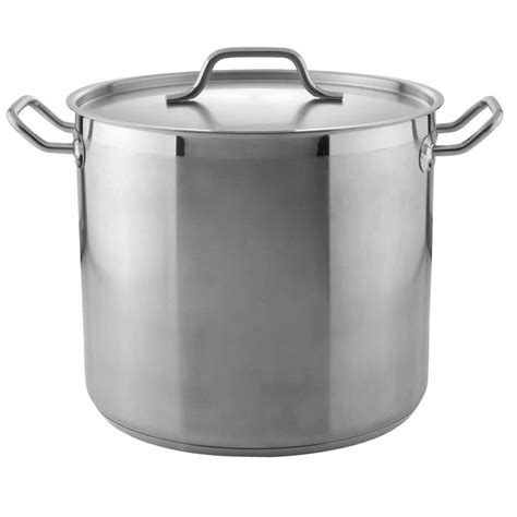 Large Pot 20 Qt Heavy Duty Stainless Steel Stock Pot With Cover