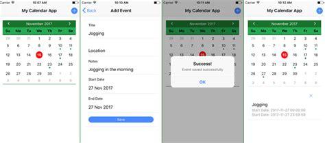 build ionic angular calendar ui event integration