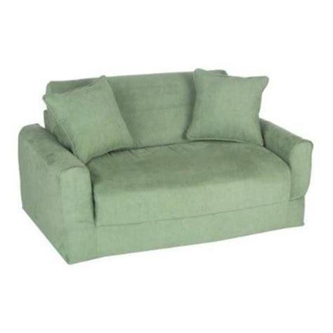 fun furnishings sofa sleeper fun furnishings micro suede sofa sleeper in green beyond