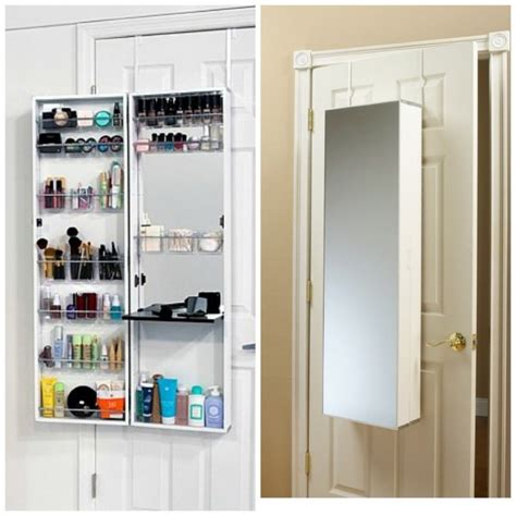 over the door mirrored hanging beauty armoire furniture full length mirror jewelry box for storage