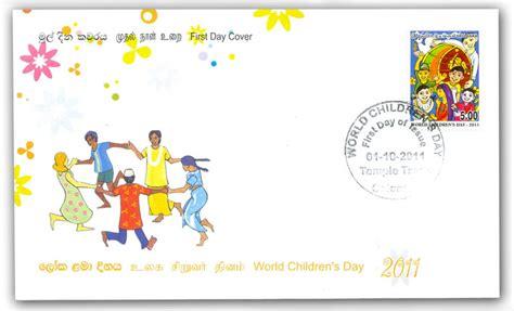 Sri Lanka Postage Sts World Children S Day 2011