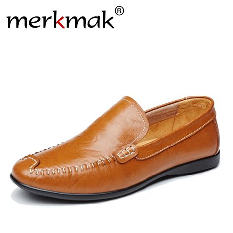 homme loafers summer casual shoes genuine leather loafers mocassin