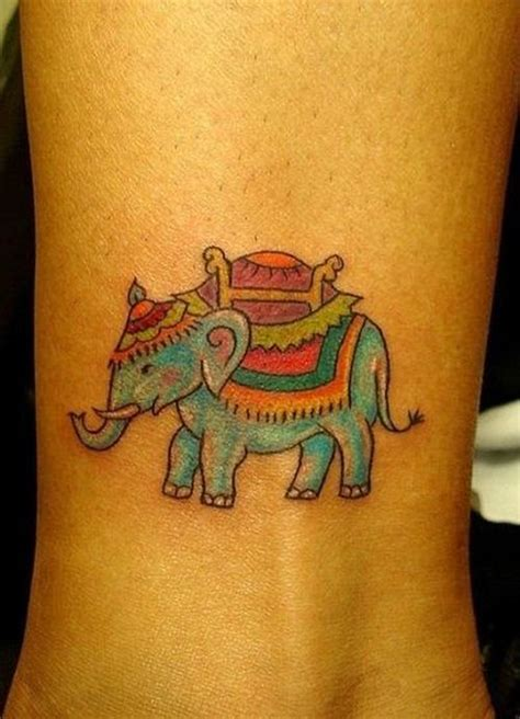 indian wrist tattoos elephant images designs