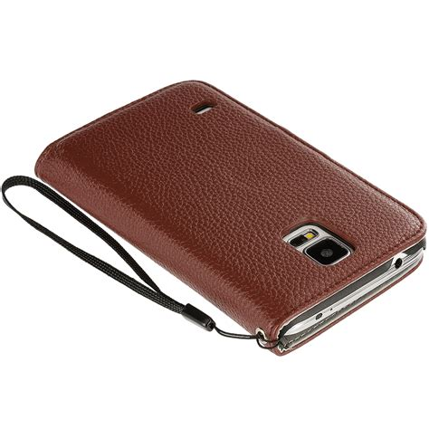 Primary Pouch Samsung S5 Brown for samsung galaxy s5 leather wallet leather pouch