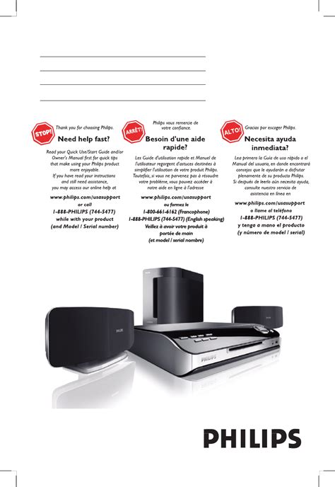 philips stereo system hts6500 user guide manualsonline