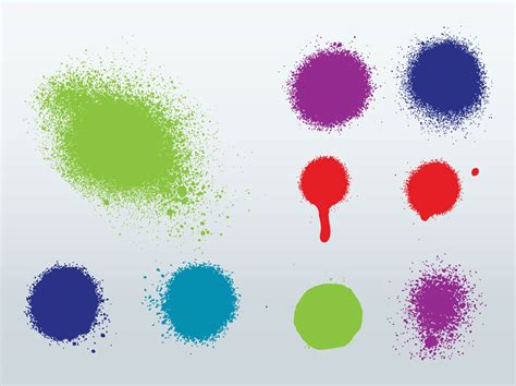 spray paint vector free spray splatter vector