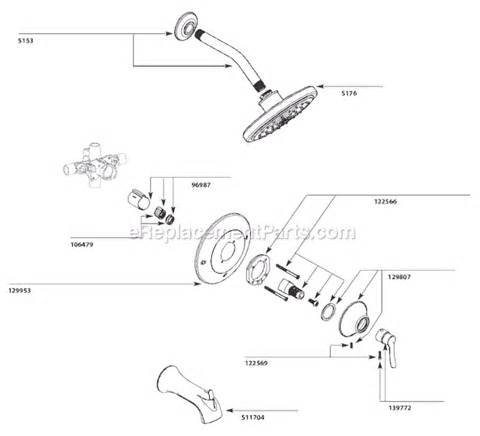 Moen Kitchen Faucet Diagram by 40 Moen Shower Valve Diagram Moen Kitchen Faucet Repair