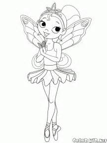 Download Or Print Out The Coloring Page Ballerina Girl sketch template