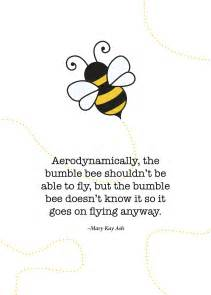 Bumble Bee Wall Stickers print of quote by mary kay ash the bumble bee