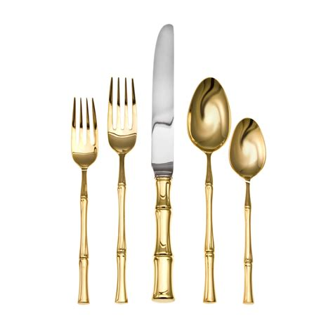 bamboo flatware trend watch wednesday gold bamboo sand and sisal