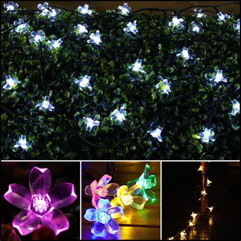 Patio Lights Flower 50 100 Led Solar Powered Lights Light String