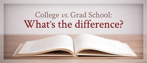 Mba Grad School by 7 Big Differences Between College And Graduate School