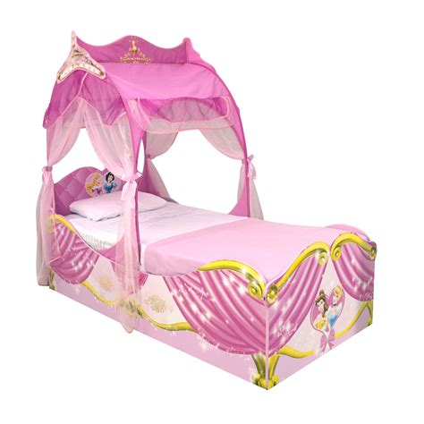 princes bed chic pink toddler princess bed with shade added white
