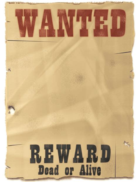 wanted dead or alive poster template free template wanted poster bestsellerbookdb