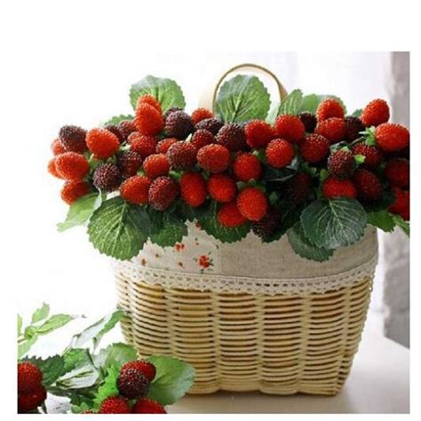 Strawberry Home Decor by 2016 New 9 Fruit Decoration Flower Artificial Fruit Paddle