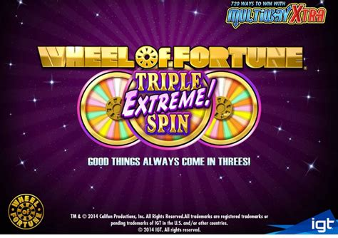 wheel  fortune triple extreme spin slot   worth