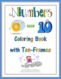 numbers 0 10 coloring book with ten frames freebie