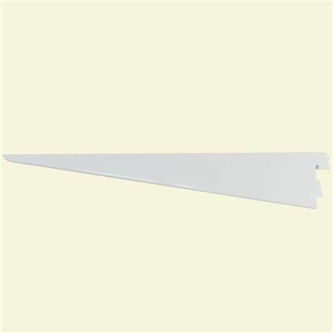rubbermaid 11 1 2 in white twin track shelf bracket