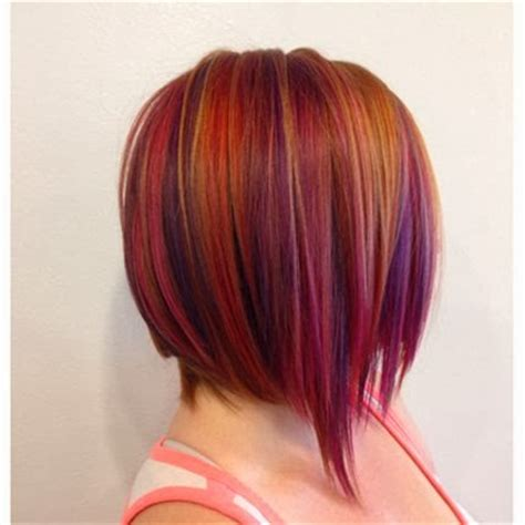 reverse bob with two tone color olez haircare blog fall hair color plum raspberry tone