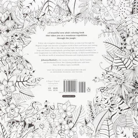 magical jungle an inky the secret garden basford coloring pages basford new coloring book