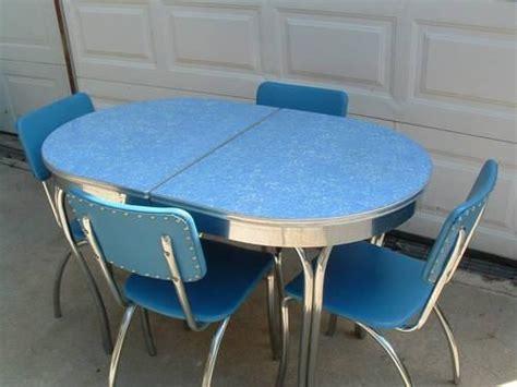 blue formica kitchen table 1950 s dinette set retro vintage dinettes