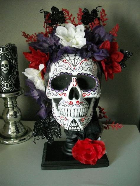 skull centerpiece on etsy 68 00 meghan s sweet 16 wedding decorations centerpieces