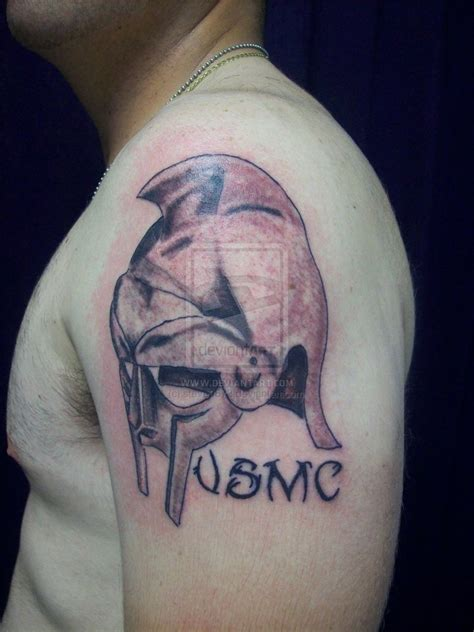 helmet tattoo bike helmet on left back shoulder