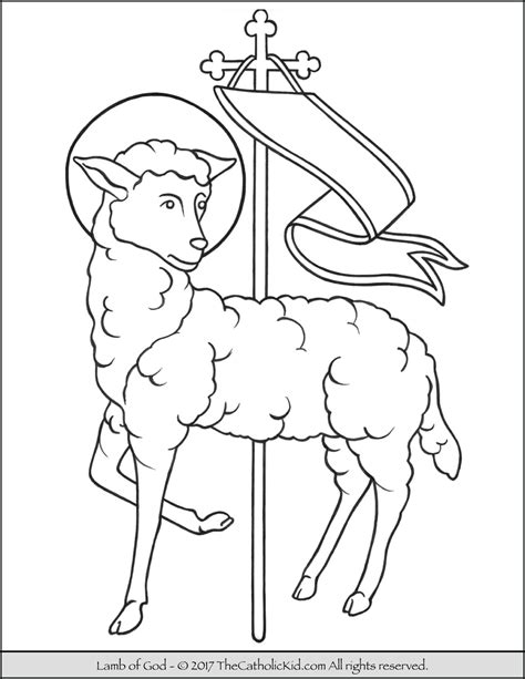lamb of god coloring page thecatholickid com