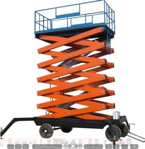 scissor lift platform table china sjy four wheel hydraulic mobile scissor lift tables