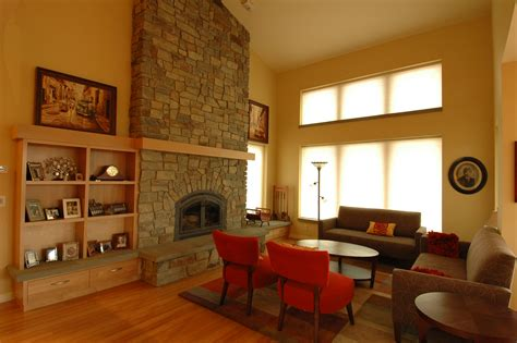 Stacked Stone Fireplace Ideas custom home local natural healthy material yakima living