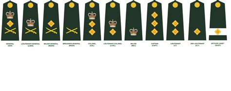 army officer ranks and insignia
