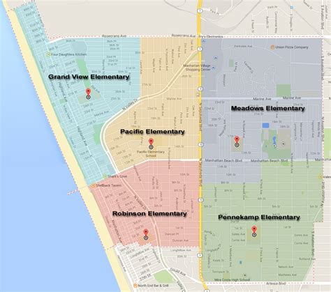 manhattan beach tree section manhattan beach school boundary map