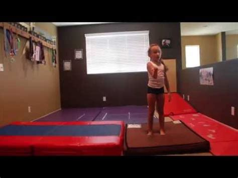 how to customize a beginner gymnastics home tumbling