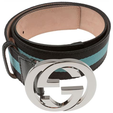 Guc Ci Silver Blue fashion accessories belts gucci belt with