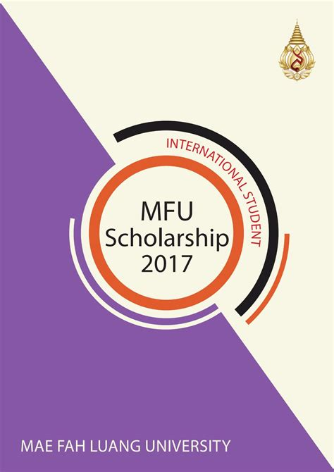 Mba Scholar For 2 6 Gpa Bachelor by Mfu Scholarship Package 2017 By Mae Fah Luang