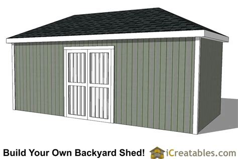 Hip Roof Garden Shed Plans 10x20 Hip Roof Shed Plans