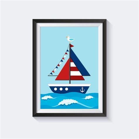 bild kinderzimmer segelboot die besten 25 boot zeichnung ideen auf