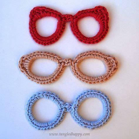 Applique Teresa by Eyeglasses Applique Free Crochet Patternn Teresa