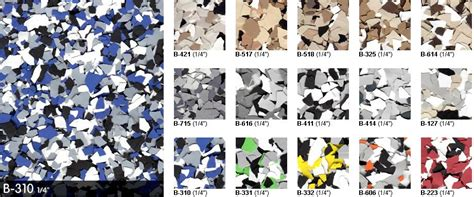 polymer color flakes colors