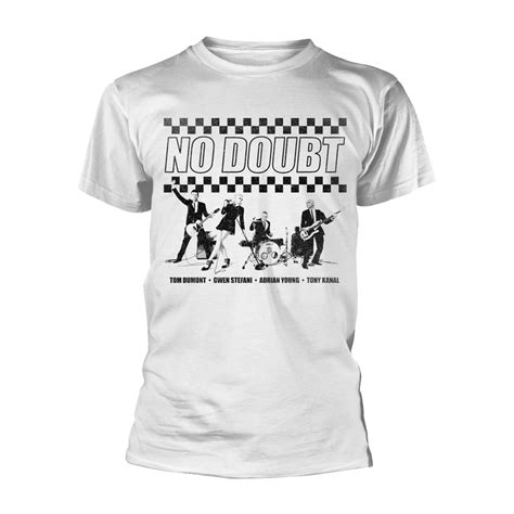 Tshirt No Doubt no doubt chequer distressed t shirt punx uk