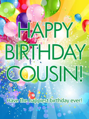 the happiest birthday happy birthday card for cousin a special cousin s birthday will be