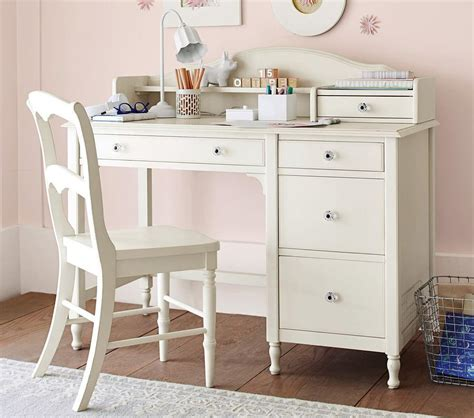 juliette storage desk hutch white pottery
