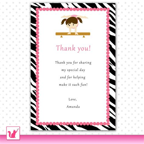 printable thank you cards for birthday printable personalized jungle gym birthday thank you card note