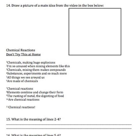 Bill Nye Chemical Reactions Worksheet Answers by Bill Nye Chemical Reactions By Mayberry In Montana
