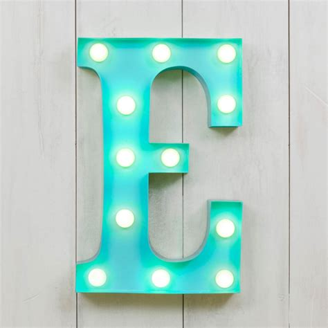 "E Vegas Metal 11"" Mini LED Letter Lights   Marquee Letters   Cult UK"
