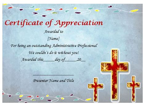 pastor appreciation certificate sle pastor